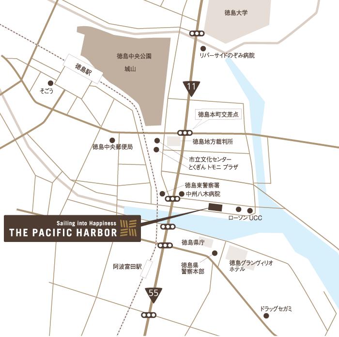 ザ・パシフィックハーバーの地図画像